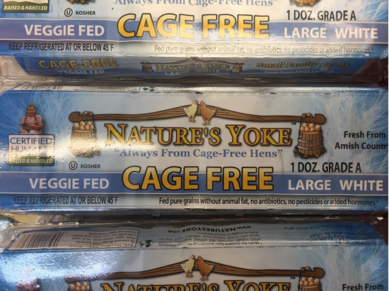 Picture of nature's yoke cage free 大白鸡蛋