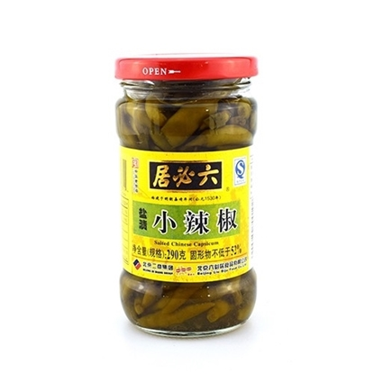 Picture of 六必居|盐渍小辣椒(瓶)(约重290g)